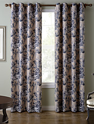 Chadmade SOFITEL Heat Transfer Print Classic Traditional Country Stylen - Nickle Grommet - Beige + Grey