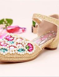 Girls' Shoes Dress Open Toe PU Sandals Pink / Silver / Gold
