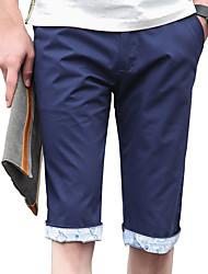 The 2016 men's casual pants men fashion blue sports pants cotton Mens shorts slim pants five summer
