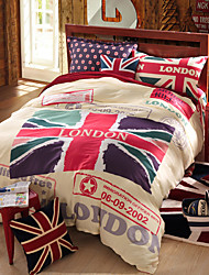 British flag duvet cover Sets 100% Cotton Bedding Set Queen/Double/Full Size