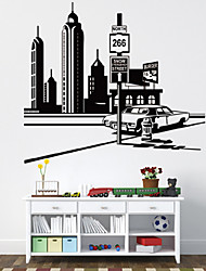 Wall Stickers Wall Decals, Fashion Originality City Tower PVC Wall Sticker