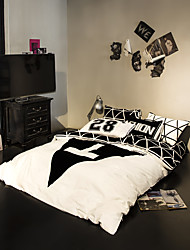 Black triangle duvet cover Sets 100% Cotton Bedding Set Queen/Double/Full Size