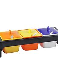 Fashion Colorful Spice Jar Three Sets,Random Color