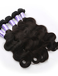 3pcs/lot Brazilian Virgin Hair Body Wave Natural Color Human Hair Extension 300g/lot