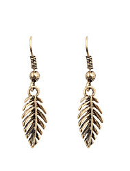 Fashion Women Vintage Simple Leaf Drop Earrings