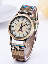 Women's Fashion Watch Quartz Leather Band Multi-Colored Beige