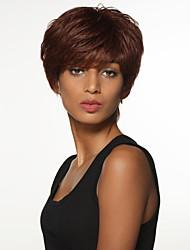 simples encantadora Remy cabelo humano amarrados mão top perucas curtas para mulher