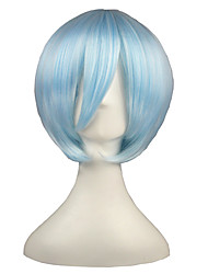 Attack on Titan-Ayanami Rei-Blauw-35-Cosplay Pruiken-
