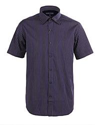JamesEarl Masculino Colarinho de Camisa Manga Curta Shirt & Blusa Cinza-Acastanhado - M21X5000618