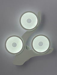 3 Heads Modern Creative Countryside Branch Arcylic Wall Lamp Decorate in the Foyer / Living Room / Bedroom Wall Lamp