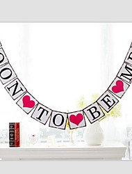 Vintage Soon To Be Mrs Bridal Shower Party Banner Sign Hen Party Decoration with String