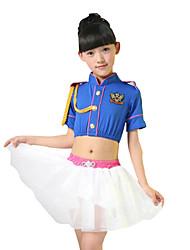 Menina de Vestido / Conjunto Verão Poliéster Azul