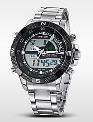 WEIDE Мужской Наручные часы электронные часы LCD Календарь Секундомер Защита от влаги С двумя часовыми поясами тревогаКварцевый Цифровой