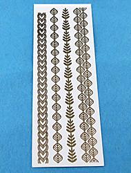 de casamento das mulheres de papel de ouro para o cabelo adesivos tatuagem