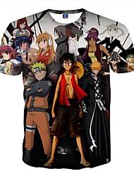 Disfraces Cosplay-One Piece- deMonkey D. Luffy-T-Shirt-