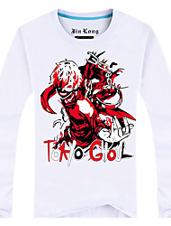 Inspired by Tokyo Ghoul Ken Kaneki Anime Cosplay Costumes Cosplay Tops/Bottoms Print Long Sleeve Top For Male