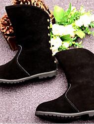 MEISJE-Modieuze laarzen-Laarzen(Zwart / Rood)