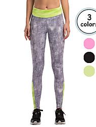 Vansydical Per donna Asciugatura rapida Yoga Pantaloni Verde / Rosso / Grigio