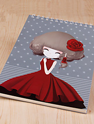 1PC Super Thick Kawaii Little Girl  Notebook Diary Notepad(Style random)