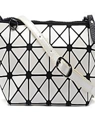 Women PU Casual Cosmetic Bag-White 16cm*12cm*8cm