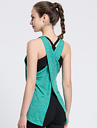 Summer New Thin Section Split Back Motion Quick-drying Vest Yoga Tops