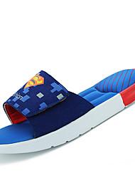 Sapatos Masculinos-Chinelos-Azul / Verde / Vermelho / Azul Marinho / Preto e Vermelho / Preto e Branco-Sintético-Casual