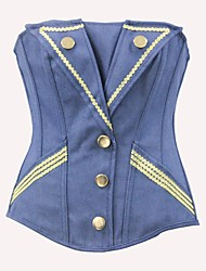 YUIYE® New Women Jean Sexy Lingerie Waist Training Corset Bustier Tops Shapewear Blue S-2XL