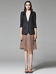 ZigZag® Women's Shirt Collar Long Sleeve Blazers & Suits Dark Gray - 11155