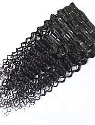 8a 100% clipe naturais Remy em extensões de cabelo humano clipe de cabelo brasileiro virgem na onda profunda extensão