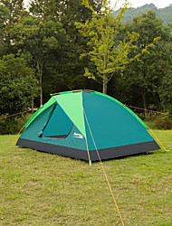 Makino 3-4 persons Tent Triple One Room Camping Tent 2000-3000 mm Aluminium OxfordWaterproof Breathability Rain-Proof Dust Proof