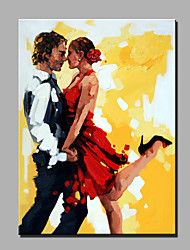 Oil Painting Modern Abstract Pure Hand Draw Ready To Hang Decorative Oil Painting The Dance Lovers
