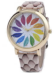Women's Fashionable  Leisure 3D Laser Printing Quartz Watch Leather Band Cool Watches Unique Watches