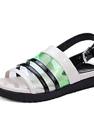 Women's Shoes Cowhide Wedge Heel Wedges / Peep Toe / Platform Sandals Office & Career / Party & Evening / Dress