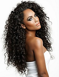 Peruvian Deep Curly Wigs Silky Full Front Lace Wig Human Hair Wigs for Black Women with Baby Hair
