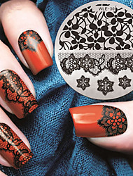 2016 Latest Version Fashion Pattern Lace Flower Nail Art Stamping Image Template Plates