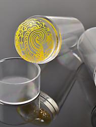 1шт ясно желе Стампер с колпачком искусства ногтя ясно силикона зефира Стампер ногтей стампера&скребок