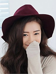 Fashion Women Wool Blend Fedora Hat,Casual Spring / Fall