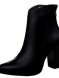 Women's Shoes Fleece Summer Heels Casual Chunky Heel Black / Khaki / Almond