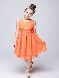Girl's Blue / Orange / Pink / Purple / Red Dress,Dresswear Polyester Summer / Spring / Fall