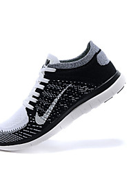 Nike FREE4.0 Men's Shoes Fabric Fashion Sneakers Black and White / Taupe / Mahogany