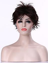capless populaire brun foncé court bouclés synthétique perruque de cheveux perruques de femme costume pour la vie quotidienne