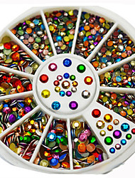 caixa de cor colorido manicure jóias seis centímetros