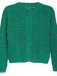 Girl's Sweater & Cardigan,Cotton Winter Green