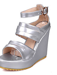 Women's Shoes Customized Materials Wedge Heel Wedges Sandals Wedding / Party & Evening / Dress / Casual White