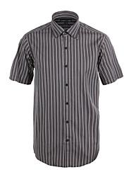 JamesEarl Herren Hemdkragen Kurze Ärmel Shirt & Bluse Grau - M21X5001221