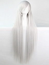 Anime Cosplay Wig Silver-White 100 CM Long Straight Hair High Temperature Wire