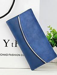 Damen-Clutch / Brieftasche / Bankkarten & Ausweis Tasche / Geldbörse / Visitenkartenhalter-Zweifach gefaltet-PU-Blau / Grün / Orange /