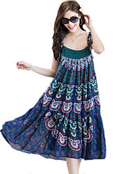 2016 New Women's Bohemian Beach Sling Dress