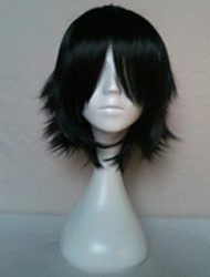 New Arrival Woman's Synthetic Hair Wigs Short Straight  Natural  Black Animated Wigs Cosplay Wig Party Wigs 019A