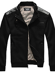 Lesmart Men's Stand Long Sleeve Jackets Black - MDME1231